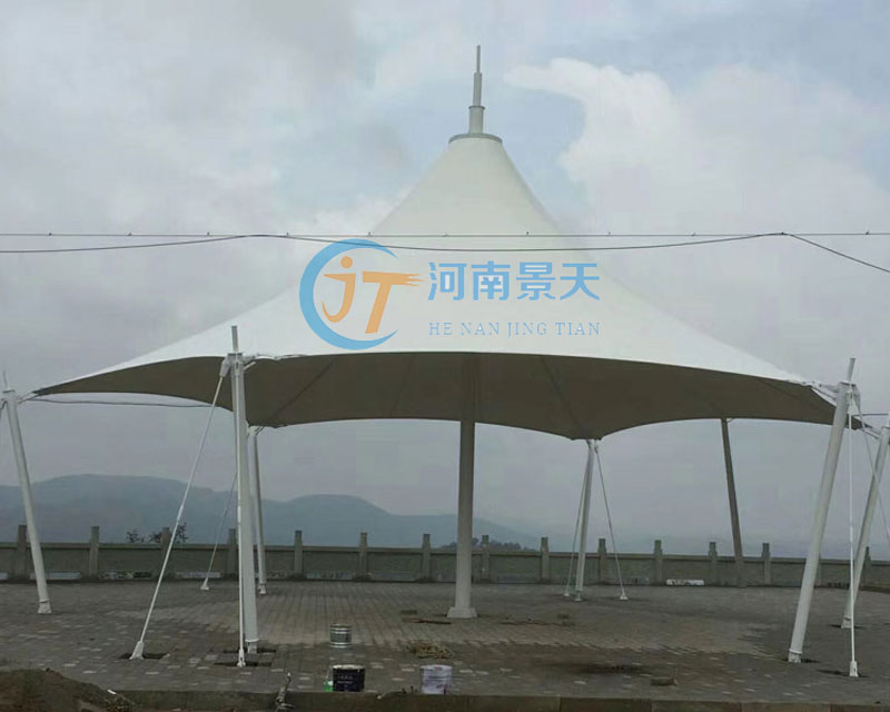 膜结构景观伞造形