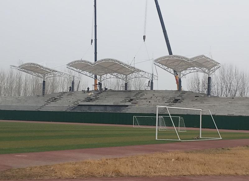 膜结构遮阳棚安装