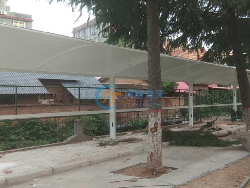 学校膜结构电动车棚